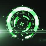 Interfaccia futuristica di HUD Target UX UI illustrazione di stock