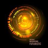 Interfaccia futuristica, HUD, fantascienza Fotografia Stock Libera da Diritti
