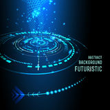 Interfaccia futuristica, HUD, fondo Fotografia Stock