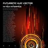 Interfaccia futuristica, HUD, fondo Fotografia Stock Libera da Diritti