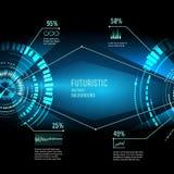 Interfaccia futuristica, HUD, imfographics, Immagine Stock