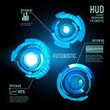 Interfaccia futuristica, HUD, imfographics, Fotografie Stock