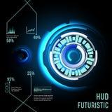 Interfaccia futuristica, HUD, imfographics, Immagini Stock