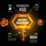 Interfaccia futuristica, HUD, imfographics, Immagini Stock Libere da Diritti