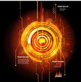 Interfaccia futuristica, HUD, imfographics, Fotografia Stock Libera da Diritti
