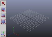 Interfaccia generica di applicazione 3D Fotografia Stock Libera da Diritti