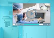 Interfaccia medica di App del riproduttore video di operazione Immagini Stock