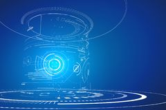 Interfaccia tridimensionale futuristica, progettazione grafica astratta illustrazione vettoriale