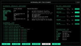 Interfaccia utente dell'analizzatore di rete di Wi-Fi con l'incisione dell'attacco di parola d'ordine di forza bruta archivi video