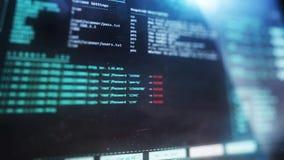 Interfaccia utente dell'analizzatore di Wi-Fi sul visualizzatore del computer Concetto della TV royalty illustrazione gratis