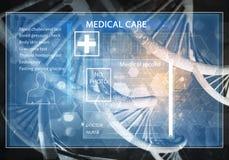 Interfaccia utente della medicina Fotografia Stock