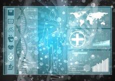 Interfaccia utente della medicina Immagine Stock Libera da Diritti
