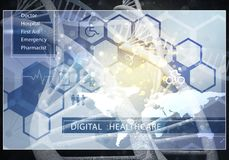Interfaccia utente della medicina Fotografie Stock