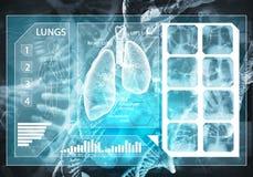 Interfaccia utente della medicina Fotografia Stock Libera da Diritti