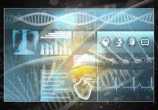 Interfaccia utente della medicina Immagini Stock Libere da Diritti