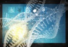 Interfaccia utente della medicina Immagini Stock