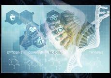 Interfaccia utente della medicina, rappresentazione 3D Immagini Stock