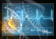 Interfaccia utente della medicina, rappresentazione 3D Immagine Stock