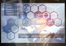Interfaccia utente della medicina, rappresentazione 3D Immagine Stock Libera da Diritti