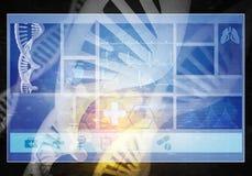 Interfaccia utente della medicina, rappresentazione 3D Immagini Stock Libere da Diritti