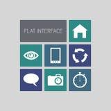 Interfaccia utente di vettore Immagini Stock