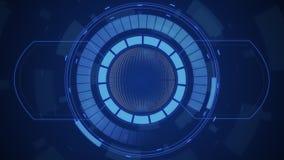 Interfaccia utente digitale futuristica di HUD Technology, schermo radar con la varia comunicazione commerciale degli elementi di illustrazione vettoriale