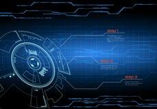 Interfaccia utente futuristica di Sci fi royalty illustrazione gratis