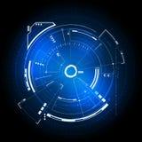 Interfaccia utente futuristica di Sci fi illustrazione vettoriale