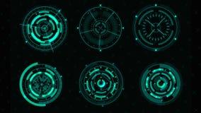 Interfaccia utente futuristica di Sci fi HUD illustrazione vettoriale