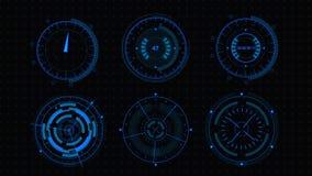 Interfaccia utente futuristica di Sci fi HUD royalty illustrazione gratis