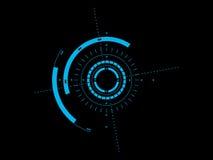 Interfaccia utente futuristica HUD illustrazione di stock