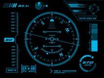 Interfaccia utente futuristica HUD Fotografia Stock