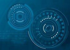 Interfaccia utente grafica futuristica Fotografie Stock