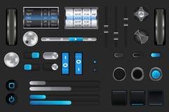 Interfaccia utente grafica per il iphone, ipad, android Fotografie Stock