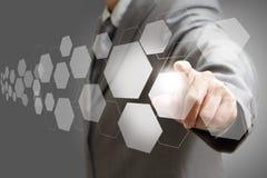 Interfaccia virtuale dello schermo di tocco Fotografie Stock