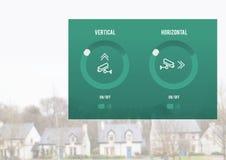 Interface à la maison du système APP de caméra de sécurité Photographie stock libre de droits