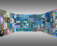 Interface. Abstract view of the many different images to the Internet for designers for various necessities Royalty Free Stock Photo