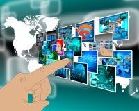 Interface avec quelques images Images libres de droits