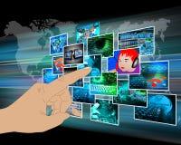 Interface avec quelques images Photographie stock libre de droits