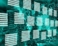 Interface binaire code Stock Foto