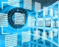 Interface binary code Stock Photography