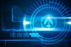 Interface bleue de technologie avec le cadran Photos stock