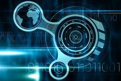 Interface bleue et noire de technologie Image libre de droits