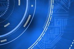 Interface bleue futuriste illustration de vecteur