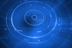 Interface bleue futuriste illustration libre de droits