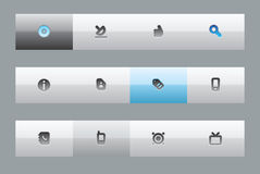 Interface buttons Royalty Free Stock Photos
