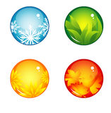 Interface buttons season Royalty Free Stock Photos