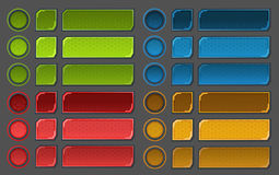Interface buttons set for space games or apps Stock Images