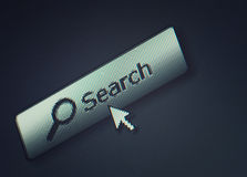 interface computer search button Stock Photos