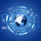 Interface Concept Technology Circle blue Background Stock Images